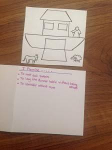 Noah's Ark Lenten Promise Card 2