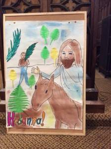 Palm Sunday group colouring
