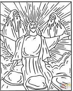 Transfiguration Colouring Page