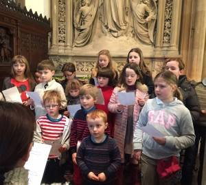 Children's choir singing beautifully